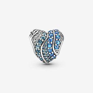 Pandora  Blue Sparkling Crown O Charm